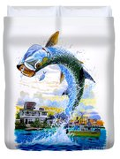 Tarpon Leap Duvet Cover by Carey Chen