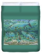 Tarpon Rolling In0025 Duvet Cover by Carey Chen