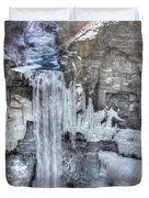 Taughannock Falls Duvet Cover by Lori Deiter