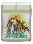 Taylor Swift Duvet Cover by Chrisann Ellis