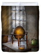Teacher - Around The World Duvet Cover by Mike Savad