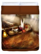 Teacher - The School Room Duvet Cover by Mike Savad