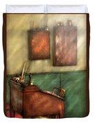 Teacher - The Teachers Desk Duvet Cover by Mike Savad