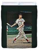 Ted Williams Painting Duvet Cover by Florian Rodarte