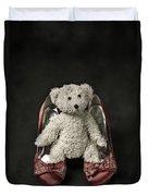 Teddy In Pumps Duvet Cover by Joana Kruse