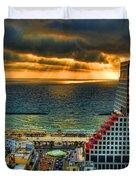 Tel Aviv Lego Duvet Cover by Ron Shoshani