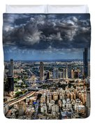 Tel Aviv Love Duvet Cover by Ron Shoshani