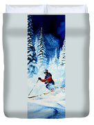 Telemark Trails Duvet Cover by Hanne Lore Koehler