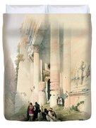 Temple Called El Khasne Duvet Cover by David Roberts