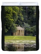 Temple Of Piety Duvet Cover by Chris Smith