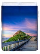 Temple Sunset Duvet Cover by Adrian Evans