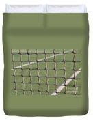 Tennis Net Duvet Cover by Luis Alvarenga