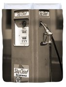 Texaco Skychief - Tokheim Gas Pump 2 Duvet Cover by Mike McGlothlen