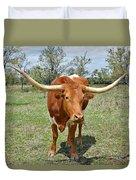Texas Longhorn Duvet Cover by Christine Till
