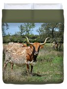 Texas Longhorns Duvet Cover by Christine Till