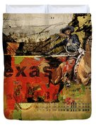 Texas Rodeo Duvet Cover by Corporate Art Task Force