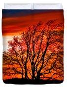 Texas Sunset Duvet Cover by Darryl Dalton