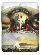 The 14th Regiment New York State Militia Duvet Cover by Unknown