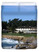 The 18th At Pebble Beach Duvet Cover by Barbara Snyder