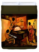 The 1st Jazz Trio Duvet Cover by Larry Martin