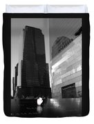 The 911 Memorial In Black And White Duvet Cover by Dan Sproul
