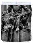 The Actor Statue Philadelphia Duvet Cover by Bill Cannon