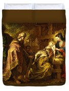 The Adoration Of The Magi Duvet Cover by Orazio de Ferrari