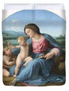 The Alba Madonna Duvet Cover by Raffaello Sanzio of Urbino