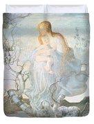 The Angel Of Life Duvet Cover by Giovanni Segantini