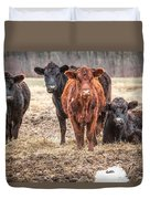 The Angry Cows Duvet Cover by Gary Heller