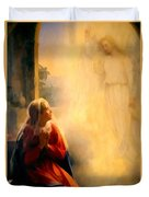 The Annunciation Duvet Cover by Carl Bloch