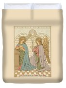 The Annunciation Of The Blessed Virgin Mary Duvet Cover by English School
