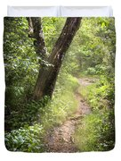 The Appalachian Trail Duvet Cover by Debra and Dave Vanderlaan