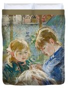 The Artists Daughter Duvet Cover by Berthe Morisot