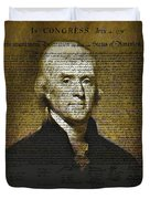 The Author Of America Duvet Cover by Bill Cannon