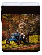 The Autumn Blues Duvet Cover by Debra and Dave Vanderlaan