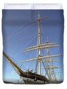 The Balclutha Historic 3 Masted Schooner - San Francisco Duvet Cover by Daniel Hagerman