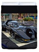 The Batmobile Duvet Cover by Tommy Anderson