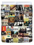 The Beatles Collage Duvet Cover by Taylan Soyturk