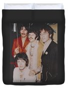 The Beatles In Color Duvet Cover by Donna Wilson