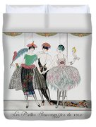 The Beautiful Savages Duvet Cover by Georges Barbier