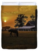 The Beauty of a Rural Sunset Duvet Cover by Mary Carol Story