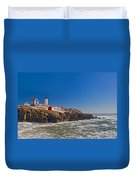 The Beauty Of Nubble Duvet Cover by Joann Vitali