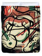 The Birth of the Horse Duvet Cover by Franz Marc