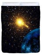 The Blue Planet Duvet Cover by Klara Acel