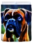The Boxer - Electric Duvet Cover by Wingsdomain Art and Photography
