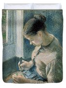 The Breakfast Duvet Cover by Camille Pissarro