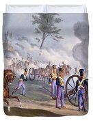 The British Royal Horse Artillery - Duvet Cover by English School