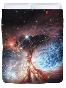 The Brush Strokes Of Star Birth Duvet Cover by Lucy West