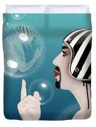 the Bubble man Duvet Cover by Mark Ashkenazi